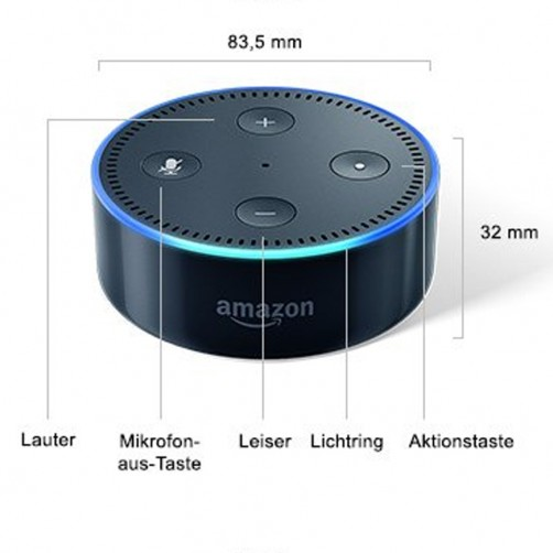 Amazon Echo Dot (2. Generation), Schwarz